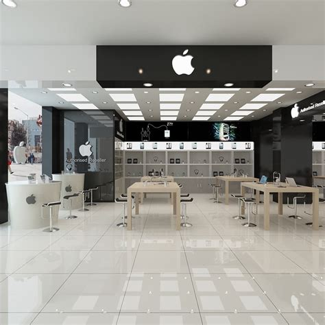 3d model of store interior apple