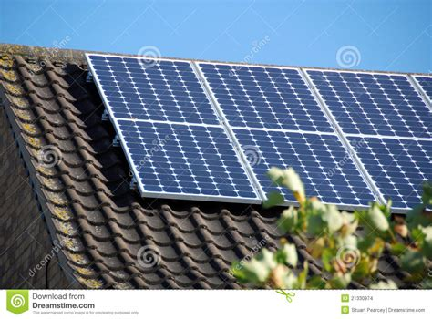 domestic use of solar energy domestic solar panels 2 stock photo image of electricity 21330974
