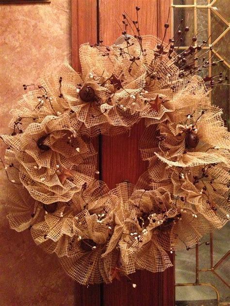 burlap christmas wreath christmas pinterest
