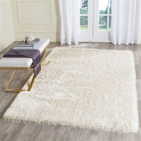 Memory Foam Area Rug Safavieh Memory Foam Plush Shag Ivory 4 Ft X 6 Ft Area Rug Sgp256a 4 The Home Depot