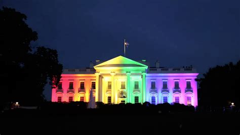 white house lights timelapse white house beams in rainbow color lights the washington post