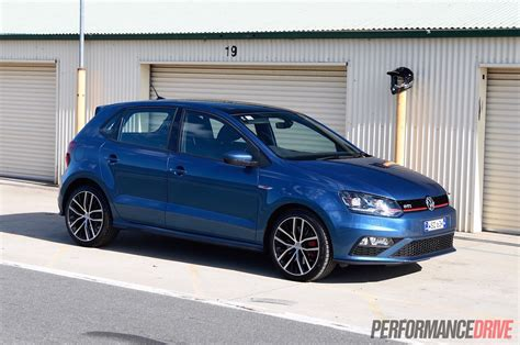 volkswagen gti blue 2015 volkswagen polo gti review track test video
