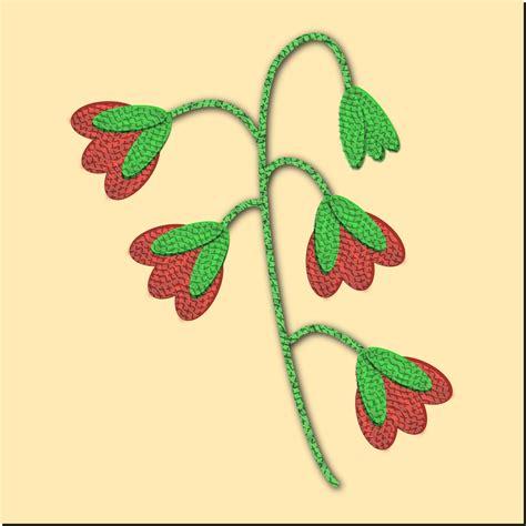 Taplak Meja Motif 1 clipart embroidered flower