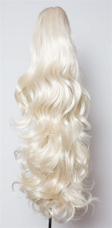 platinum blonde weave ponytail clip in hair extensions platinum blonde 16 60