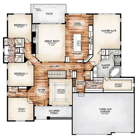 House Plans With Foyer Entrance i this plan the durango model plan features a