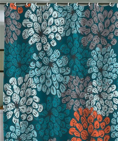 orange and teal shower curtain garden shower shower curtains and teal on pinterest