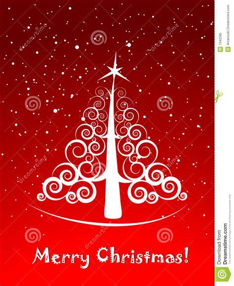 postal elegante del 225 rbol de navidad ilustraci 243 n del