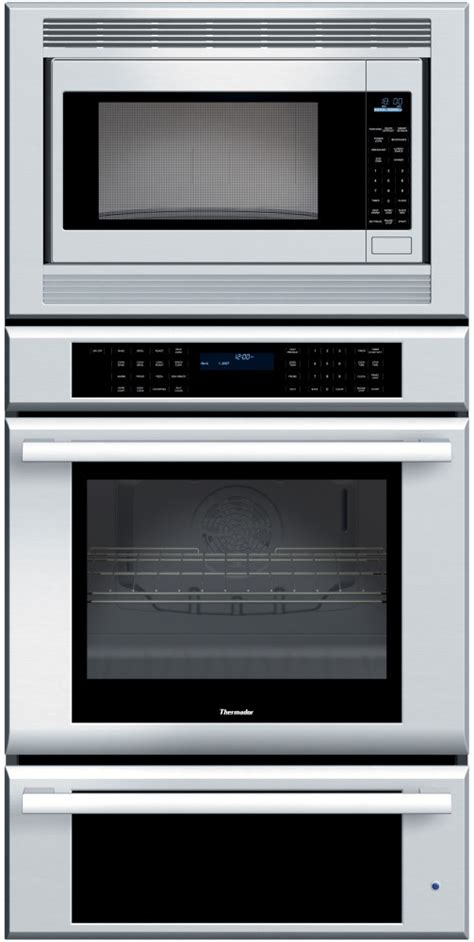 thermador warming drawer temperature thermador memw271es 27 inch triple combination wall oven