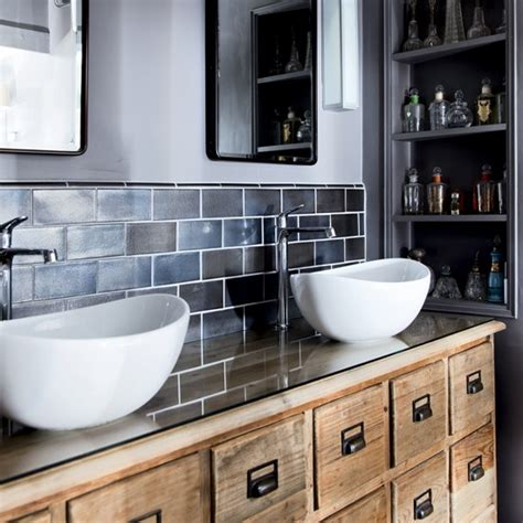 Modern Bathrooms Uk by Modern Rustic Bathroom With Basins And Vanity Unit