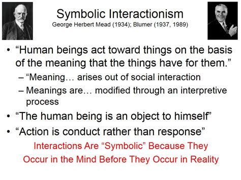 george herbert mead symbolic interactionism symbolic