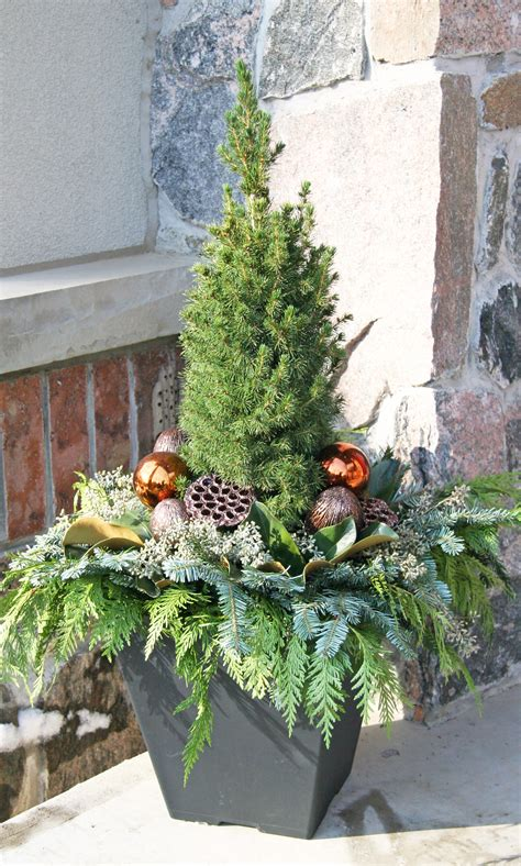 outdoor christmas planter outdoor christmas planters