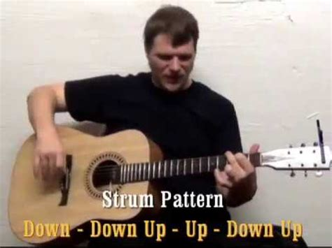 strum pattern to brown eyed girl brown eyed girl van morrison easy guitar lesson how to