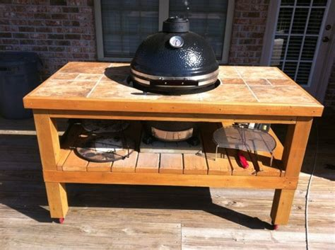 grill dome table plans desperately need help with table design kamado cooking