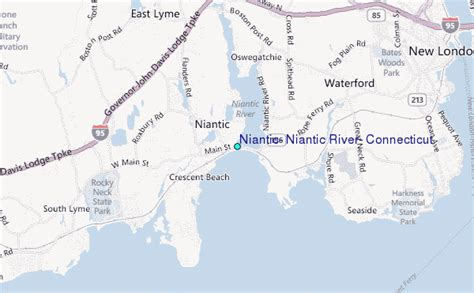 niantic niantic river connecticut tide station location