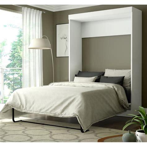 full wall bed bestar edge full wall bed in white 70183 17