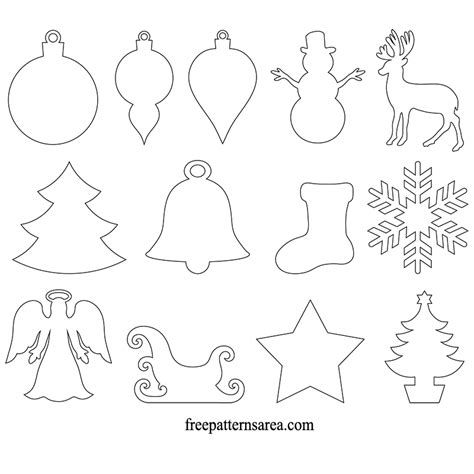 printable ornament template card stock winter and ornament vector freepatternsarea