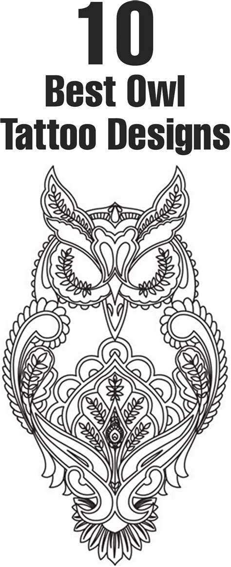 top ten tattoo designs best owl designs our top 10