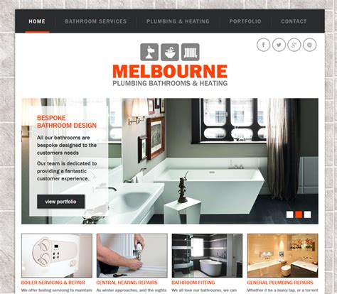 Melbourne Plumbing by Melbourne Plumbing Online99 Website Design Derby