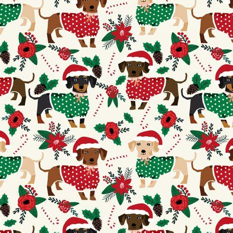 printable christmas paper a3 doxie christmas fabrics cute dachshunds fabric best doxie