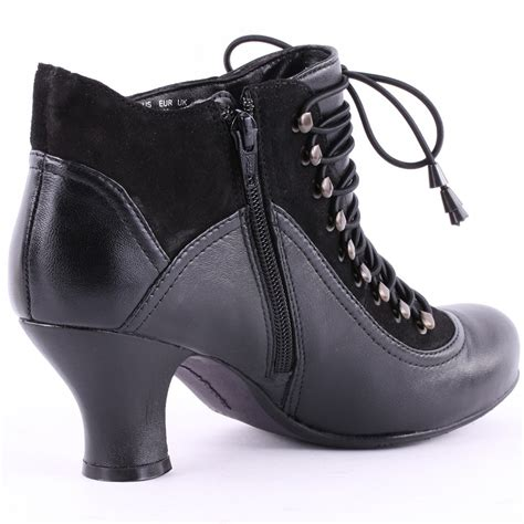 hush puppies vivianna womens leather ankle boots in black