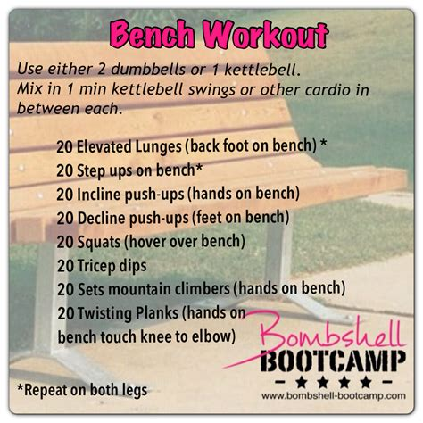bench workout routine 187 workouts bombshell bootc
