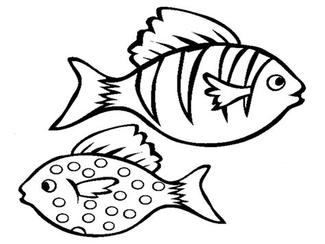 coloring page of small fish free printable fish coloring pages for kids