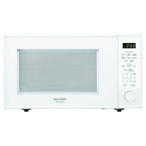 Microwave Sharp Low Wattage sharp carousel 1 8 cu ft 1100 watt countertop microwave