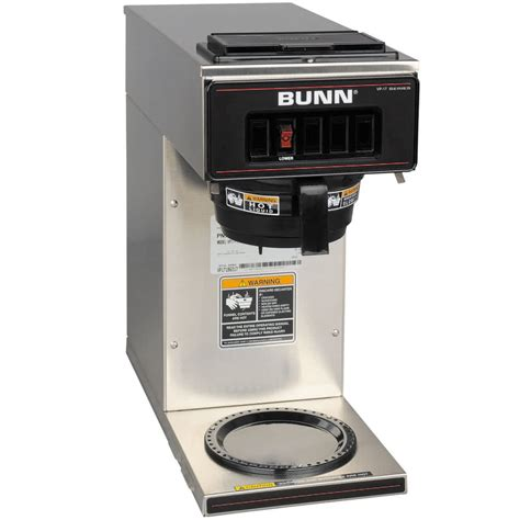 Bunn 13300.0001 VP17 1 SS Stainless Steel Pourover Coffee Brewer with 1 Lower Warmer   120V