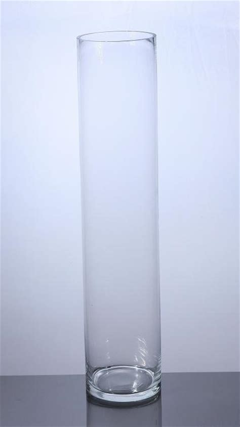 Cylindrical Glass Vases by Pc628 Cylinder Glass Vase 6 Quot X 28 Quot 6 P C Cylinder Glass