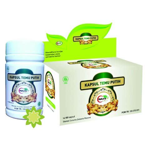 Obat Klinik Herbal Putih obat tumor kapsul temu putih 60 kapsul naturafit
