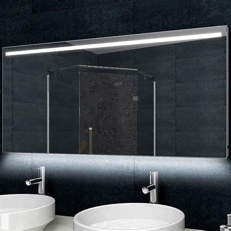 Designer Badezimmerspiegel by Design Badezimmerspiegel Alu Rahmen Led Beleuchtung 140x60