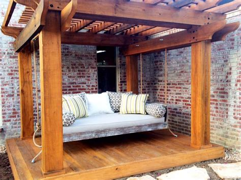 pergola swing bed what if i don t have a porch for my hanging bed swing