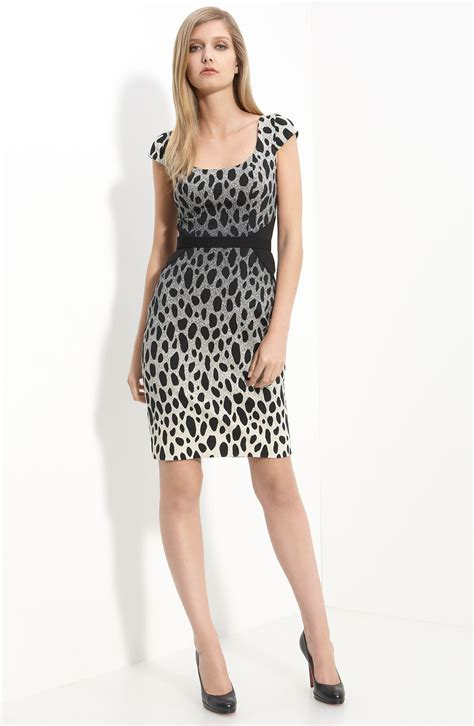Warehouse Ombre Print Dress by Godfrey Manet Ombre Leopard Print Dress In Black Lyst