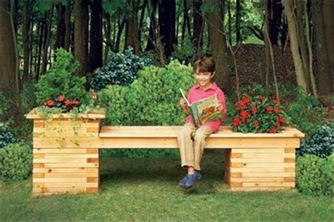garden bench with planters awesome use of pallet furniture at home pallets designs