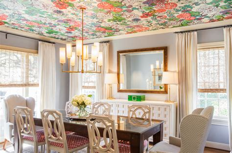 Wallpaper Ceiling Ideas by Design Trend Wallpaper Featured On The Ceiling