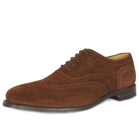 loake shoes for brogue brown suede from mozimo