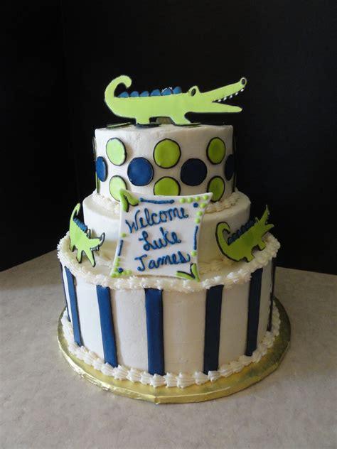 Alligator Baby Shower by Alligator Baby Shower Cake Cakecentral