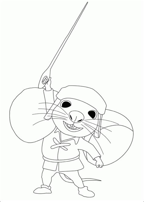 tale of despereaux coloring pages for kids