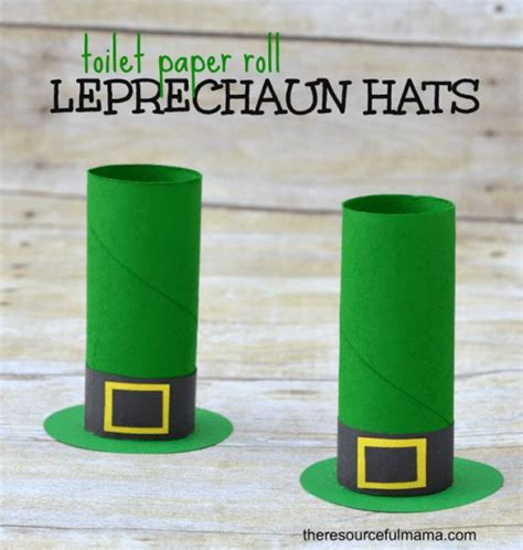 Leprechaun Toilet Paper Roll Craft - toilet paper roll leprechaun hat craft o brian