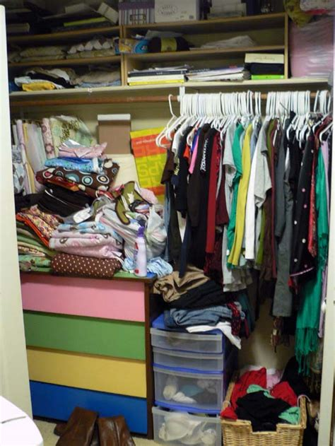 Stuffed Closet identifying the ways bedroom 1 is not meeting our needs