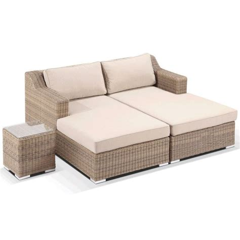 Milano Outdoor Day Bed Chaise Lounge Set in Wheat   Buy