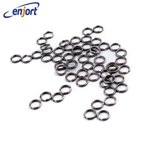 Alat Pancing A New 50pcs Stainless Steel Split Rings For Fishing L enjort 50pcs lot stainless steel split rings for blank lures crank bait bait carp fishing