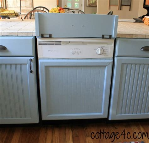 how to cover kitchen cabinets update your dishwasher so easy cottage4c