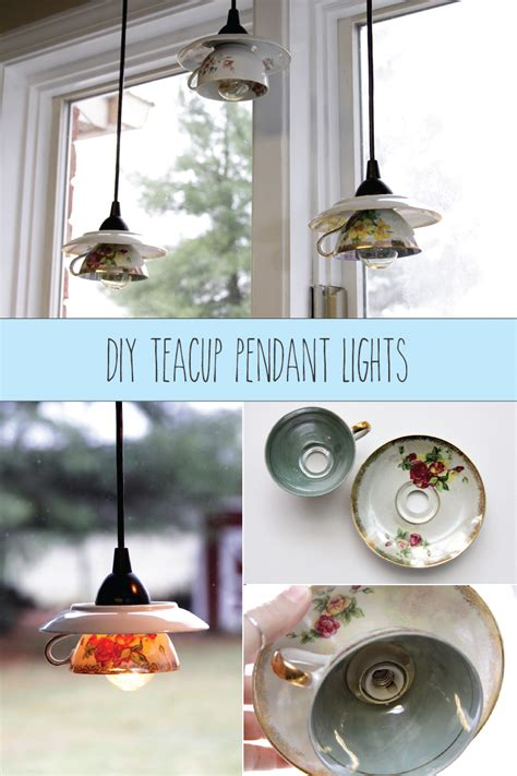 Diy Pendant Light Shade Teacup Pendant Light Shades