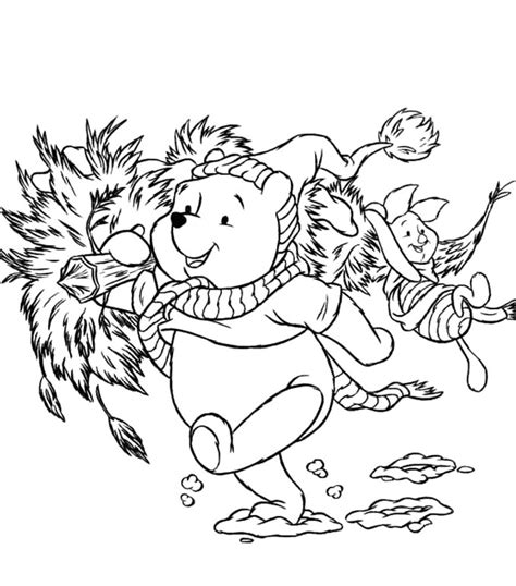 coloring pages winnie the pooh christmas winnie the pooh christmas coloring pages az coloring pages