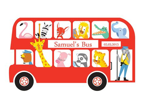 bysabys bys a bys personalised london bus new baby print by moonglow art