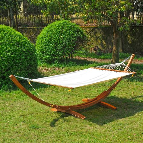 Patio Hammock With Stand 30 Outsunny Garden Outdoor Patio Standing Frame Wooden
