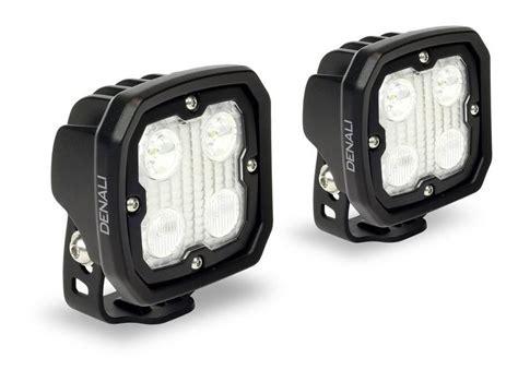 led motorcycle lights denali d4 flood spot hybrid led lighting kit revzilla