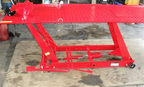 review of the harbor freight motorcycle lift table