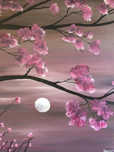 paint nite japanese cherry blossoms the 25 best beginner painting ideas on sunset